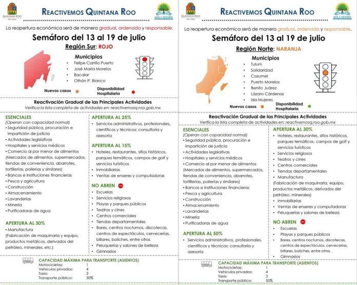 Vuelve semáforo rojo para zona sur de Quintana Roo